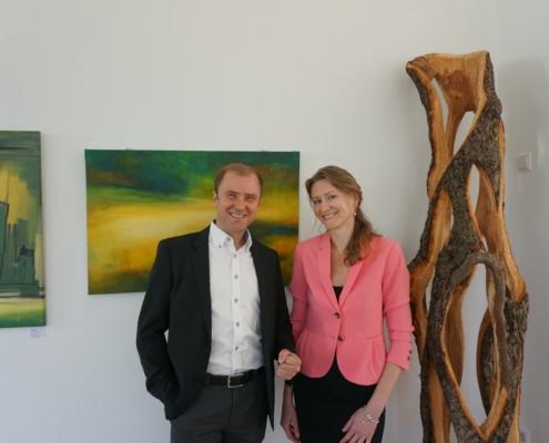 Die Gastgeber des Immobilienbüro am Sudhaus Ulm - Egmont Fugel und Anastasia Penk