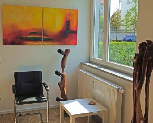 christinart Vernissage Moderne Acrylbilder und Holzkunst