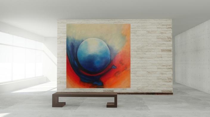 "christinART Ulm: Bild ""...blauer Planet"" (Acrylmalerei)"